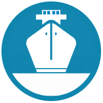 Ship Icon Blue