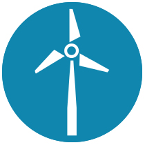 Turbine Icon Blue